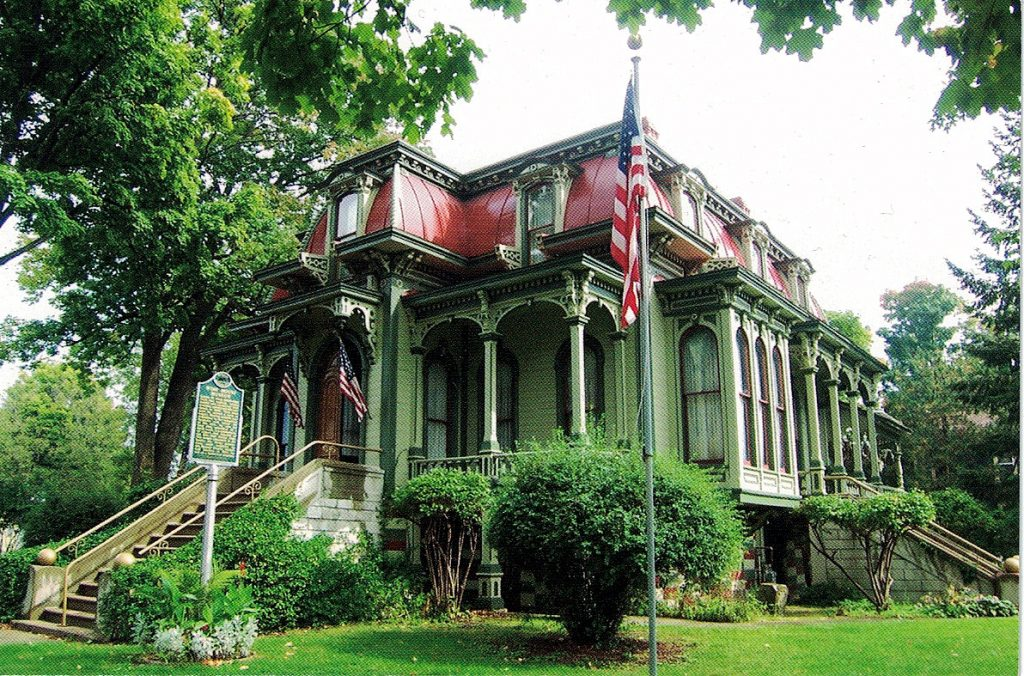 Built by the Chandler family in 1875 and purchased by the Wing family in 1882. This 2nd Empire Victorian home would remain in the Wing family until 1974 when granddaughter, Adaline (Wing) Kershaw, sold it with furnishing and artifact to the Branch County Historical Society.